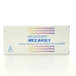 Месакол, табл. п/о кишечнораств. 400 мг №50